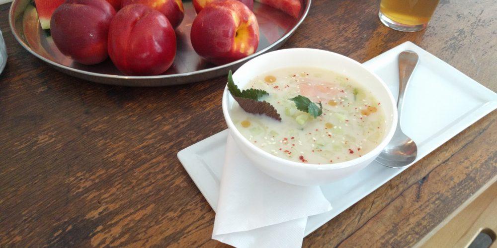 Soupe miso froide gaspacho blanc bombeao en vrac