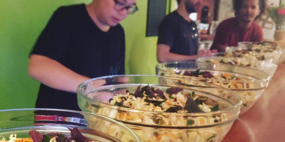 salade vietnamienne en saladier