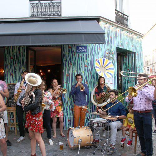 la fanfare les jacky parmentier rue de l'olive fete de la musique 2018 paris 18eme