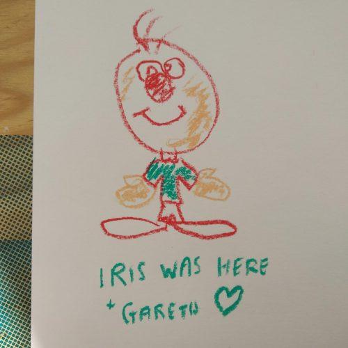 Iris was here