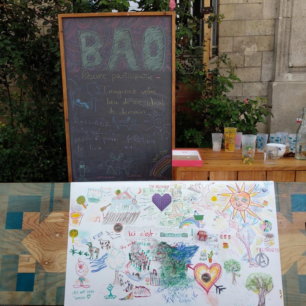 oeuvre participative jour 1 terrasse des canaux