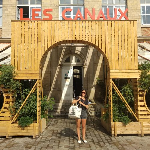 terrasse des canaux structure en bois de palettes